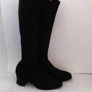 Knee high boots ALL stretchy nylon blend 6M